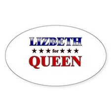 LIZBETH for queen Oval Decal