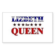LIZBETH for queen Rectangle Decal