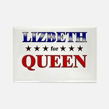 LIZBETH for queen Rectangle Magnet