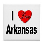 I Love Arkansas Tile Coaster