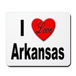 I Love Arkansas Mousepad