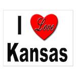 I Love Kansas Small Poster