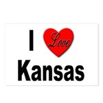 I Love Kansas Postcards (Package of 8)