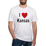 I Love Kansas Fitted T-Shirt