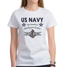 Navy Grandson defending Tee