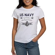 Navy Grandson defending Tee