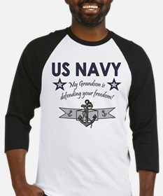 Navy Grandson defending Baseball Jersey