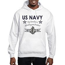 Navy Grandson defending Hoodie