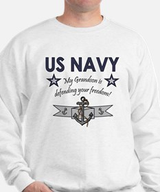 Navy Grandson defending Sweatshirt