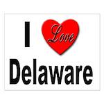I Love Delaware Small Poster