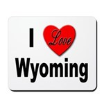 I Love Wyoming Mousepad