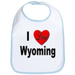 I Love Wyoming Bib