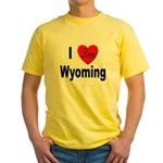 I Love Wyoming Yellow T-Shirt