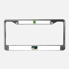 BOSTON TERRIER WITH BUBBLES License Plate Frame