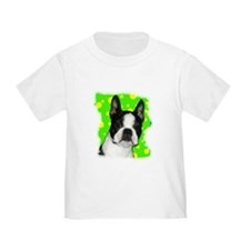 BOSTON TERRIER WITH BUBBLES T