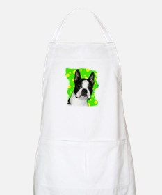 BOSTON TERRIER WITH BUBBLES BBQ Apron
