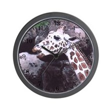 Giraffe #3 with Numbers - Wall Clock