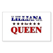 LILLIANA for queen Rectangle Decal