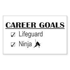 Lifeguard Career Goals Rectangle Decal