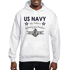 Navy Father Defending Hoodie
