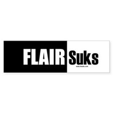Flair Suks Bumper Bumper Sticker