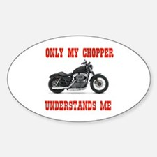 ONLY MY HARLEY Oval Decal