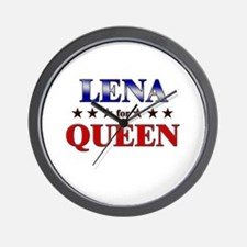 LENA for queen Wall Clock