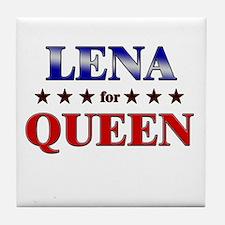 LENA for queen Tile Coaster