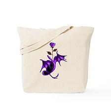 Rose Dragon Purple Tote Bag