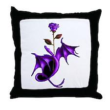 Rose Dragon Purple Throw Pillow