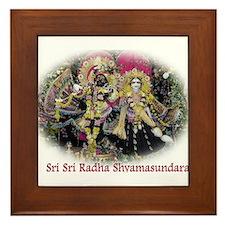 Radha Shyamasundara Black Velvet Framed Tile