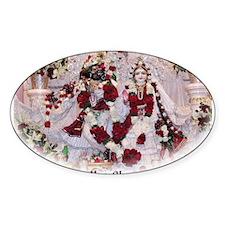 Radha Shyamasundara Valentine Oval Decal