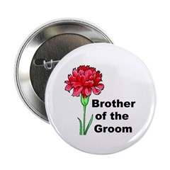 "Brother of the Groom 2.25"" Button (10 pack)"
