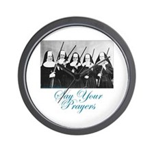 Say Your Prayers Wall Clock