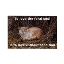 Love the feral soul Rectangle Magnet