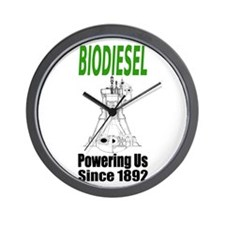 Biodiesel Power Wall Clock