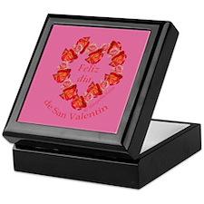 Spanish Rose Wreath on Pink Keepsake Box