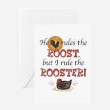 Rules The Rooster Greeting Card