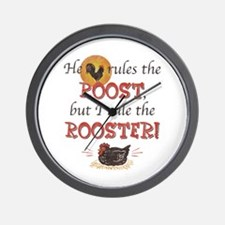 Rules The Rooster Wall Clock