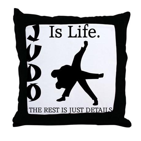 JUDO Is Life. Throw Pillow