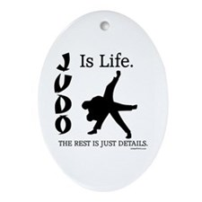 JUDO Is Life. Oval Ornament