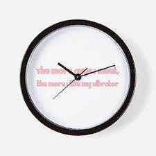 Man Hater I Love My Vibrator Wall Clock