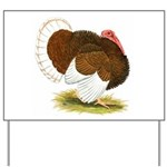 Bourbon Red Tom Turkey Yard Sign