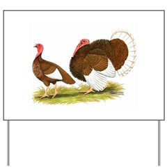 Bourbon Red Turkeys Yard Sign
