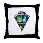 New Jersey Game Warden Throw Pillow