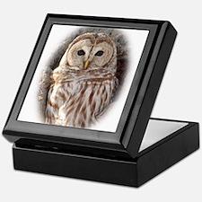 Cute Barred owls Keepsake Box