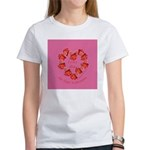 Spanish Rose Wreath on Pink Women's T-Shirt
