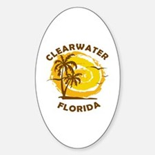 Funny Florida clearwater Sticker (Oval)