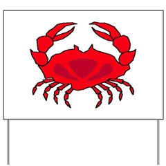 Boiled Crabs Yard Sign