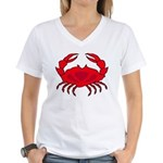 Boiled Crabs Women's V-Neck T-Shirt
